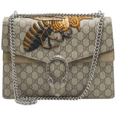 Gucci Dionysus Medium Embroidered Canvas & Suede Shoulder Bag