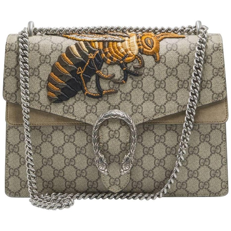 c30bb171e7a Gucci Dionysus Medium Embroidered Canvas and Suede Shoulder Bag at ...