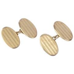 1920s Art Deco 15ct Gold Cufflinks