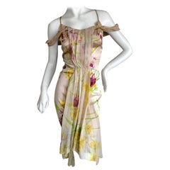 John Galliano 1990's Label Silk Floral Dress