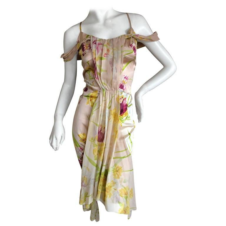 John Galliano 1990's Label Silk Floral Dress