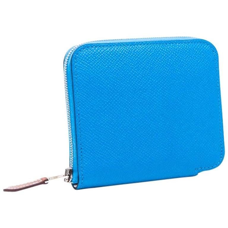 HERMES Compact Silk'In Wallet in Zanzibar Color Epsom Leather