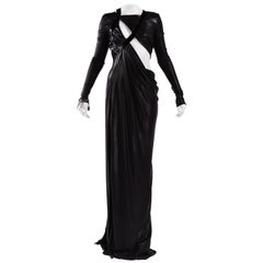 F/W 2013 Look #51 VERSACE Cut Out Black Liquid Jersey Gown