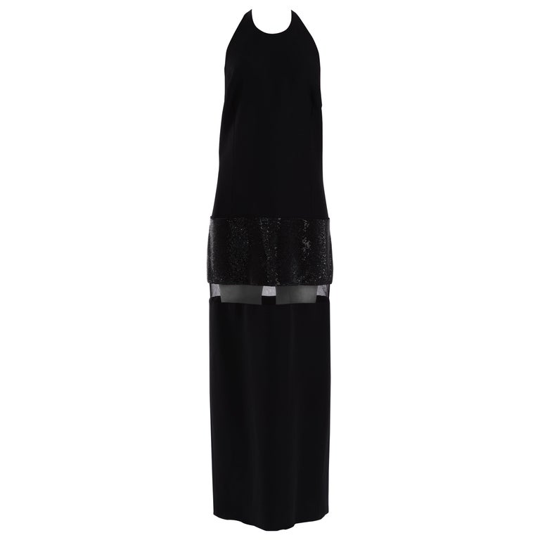 e193c44f Versace crystal embellished black gown
