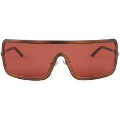 ROMEO GIGLI Copper Red Lense Sheild Sunglasses