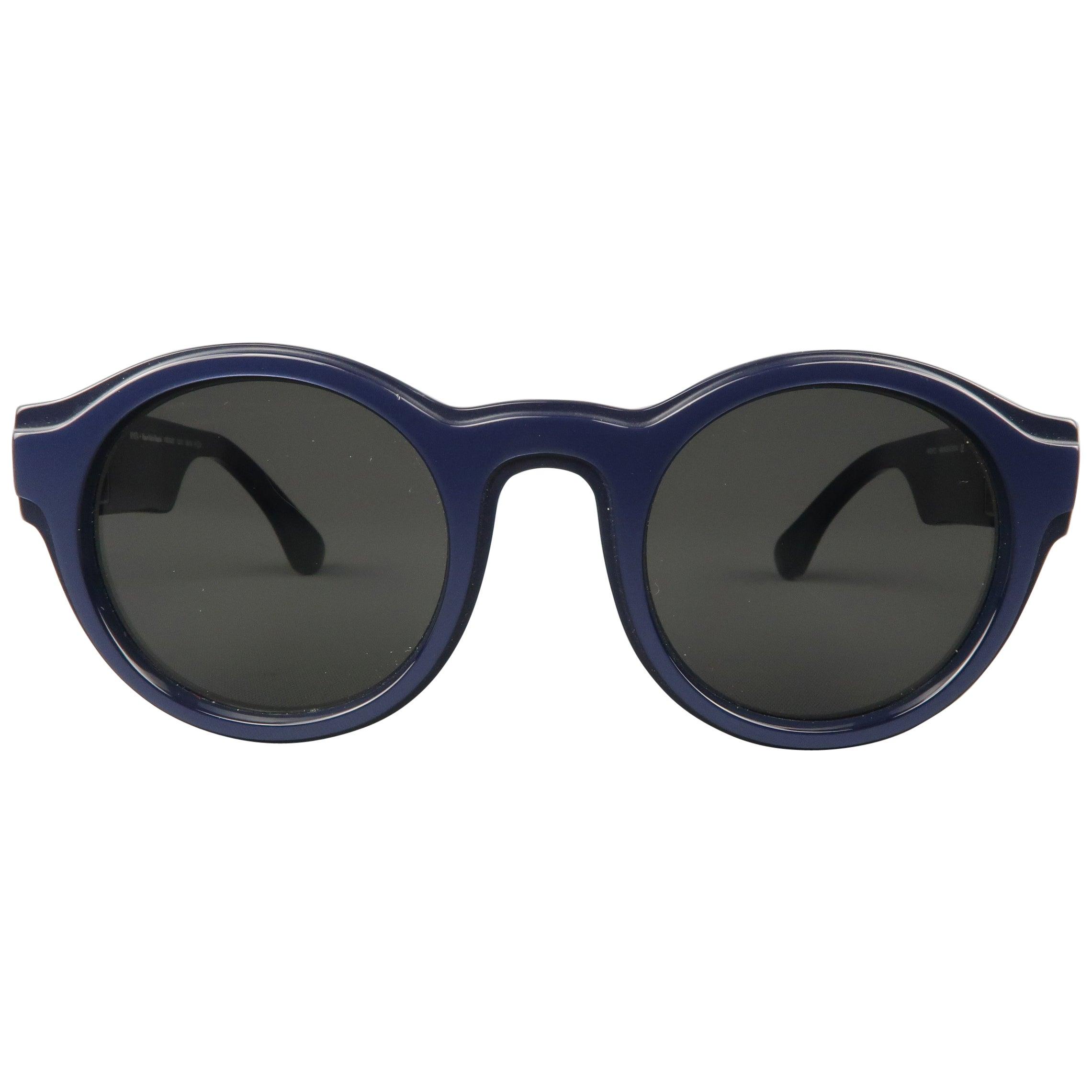72c164992f MAISON MARTIN MARGIELA + MYKITA Navy Metallic Round MMDUAL001 Sunglasses at  1stdibs