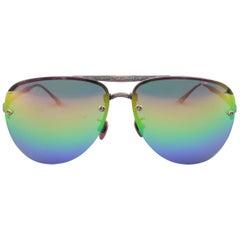 LOTOS Copper Titanium Rainbow Lens Fold Up Aviator Sunglasses