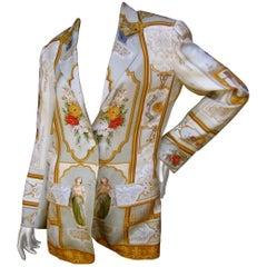 Etro Italian Silk Graphic Print Jacket 21st C