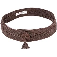 Yves Saint Laurent Brown Braided Belt