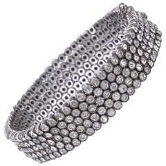Art Deco 935 Silver Bezel Set Paste Stone Bracelet