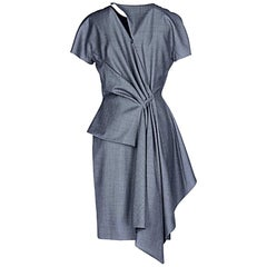 NWT Christian Dior John Galliano Size 10 / 42 Lightweight Wool Avant Garde Dress