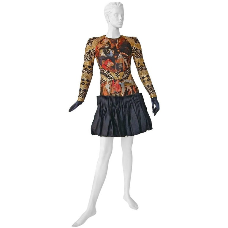 Alexander McQueen Angels & Demons Collection Hieronymus Bosch Evening Dress