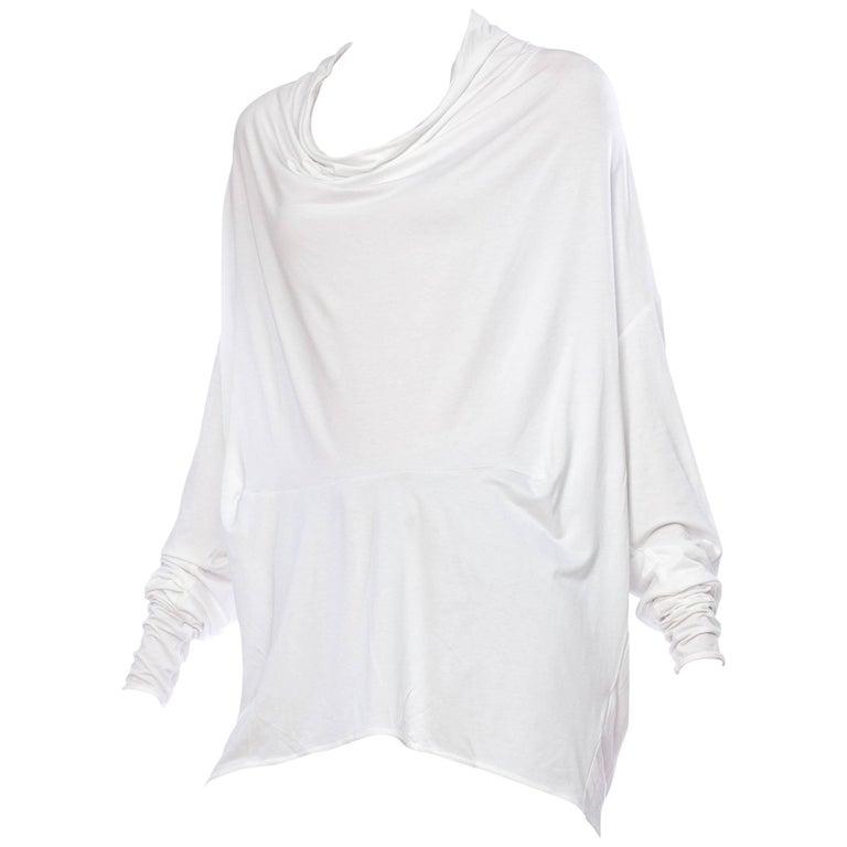 Margeiela Draped Cotton Jersey Shirt