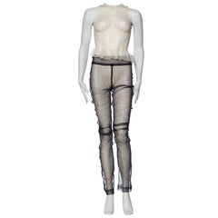 A F Vandervorst Sheer Net Leggings and Tank Ensemble