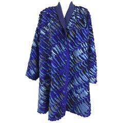 Tim Harding Art to Wear French Blue raw silk swing coat
