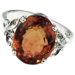 Golden Tourmaline Sterling Silver Cocktail Ring