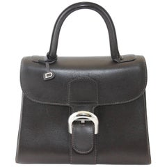 Delvaux Brilliant small brown Chocolate bag with silver hardware, circa 2008