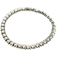 Art deco Tennis crystal bracelet