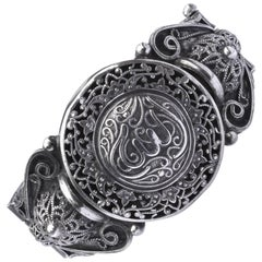 Arabic Ornate Filigree Silver Bracelet