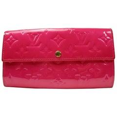 Louis Vuitton Vernis Sarah Wallet Monogram Vernis Rose Pink / Good Condition