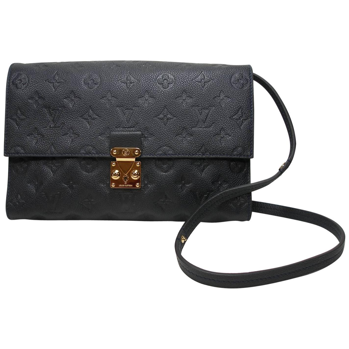 Louis Vuitton Monogram Empreinte Fascinante Blue Dark Shoulder Bag epgEJTCY