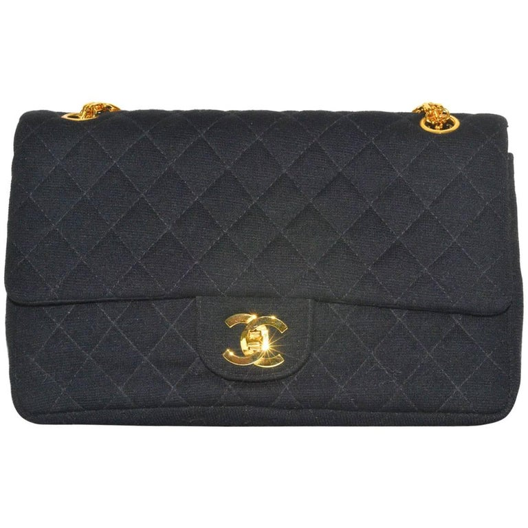 Chanel Wool Classic Flap Bag For Sale