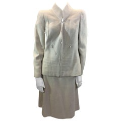 Chanel White Two Piece Skirt Suit