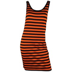 "Givenchy Striped "" See Through"" Jersey Dress"