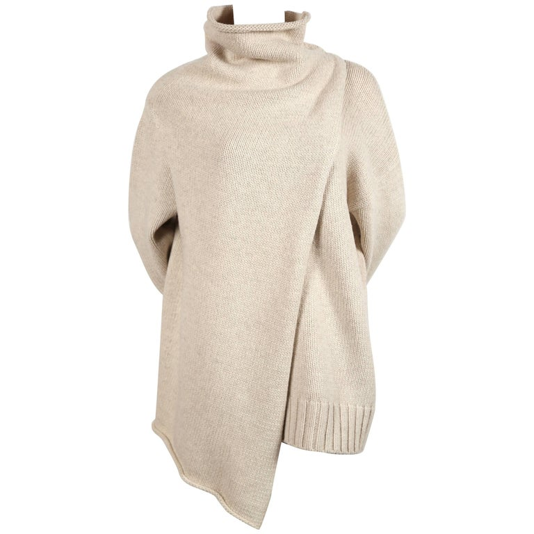 Celine By Phoebe Philo Oversized Sweater With Draping At