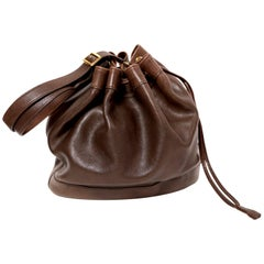 1984 HERMES brown leather 'Market'  bucket bag