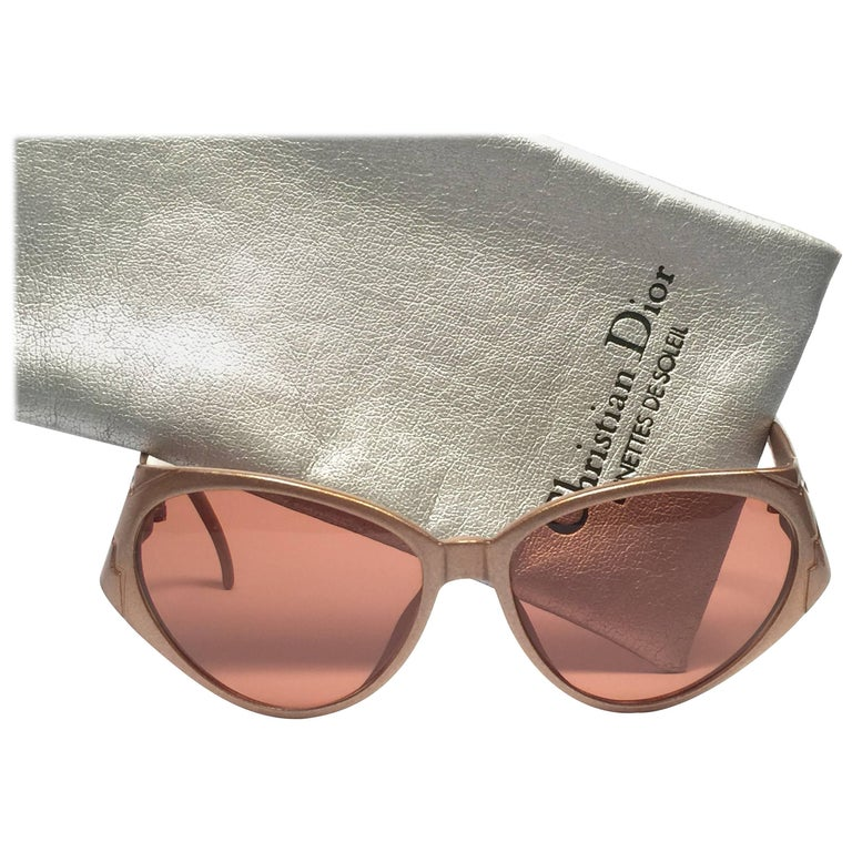 New Vintage Christian Dior 2344 Gold Optyl 1980's Sunglasses Germany