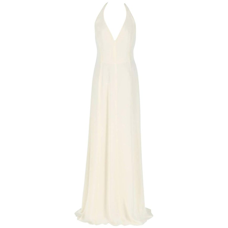 Armani Cream White Silk Wedding Dress, 2000s