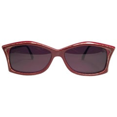 New Vintage Rare Pierre Marly Tropic Burgundy Avantgarde 1960 Sunglasses