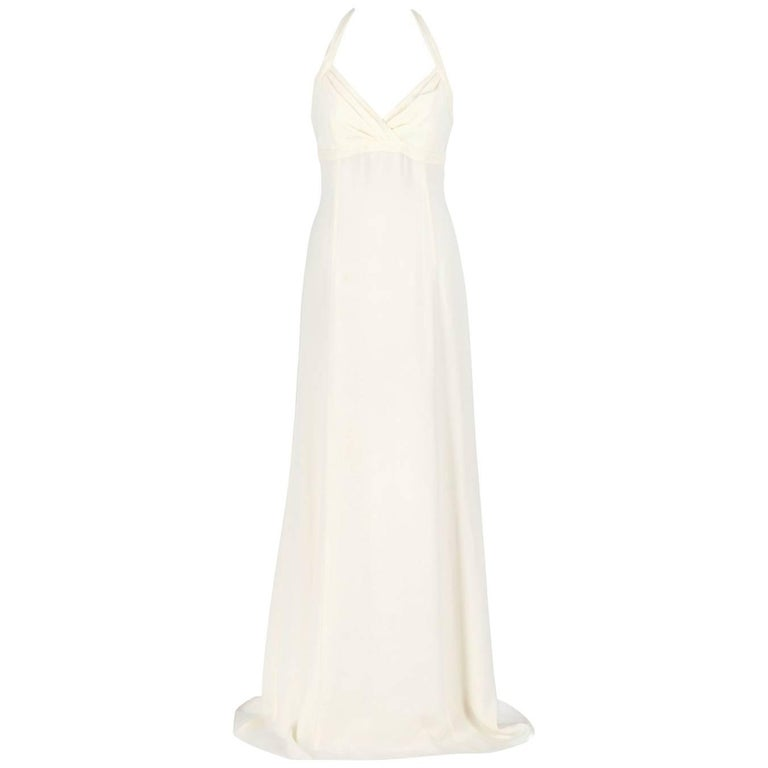 Armani Ivory White Silk Wedding Dress, 2000s