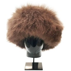 Yves Saint Laurent fox fur hat