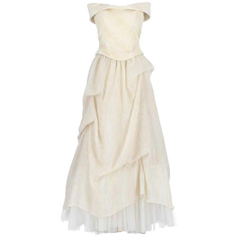 Aimée Ivory White Vintage Two-piece Wedding Dress, 2000s