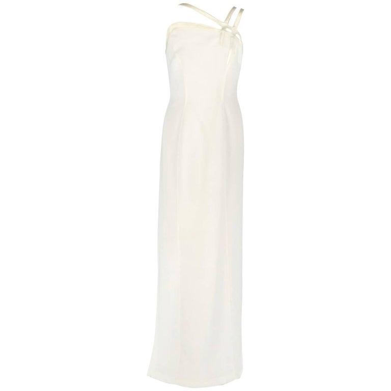 Thierry Mugler Ivory White Vintage Wedding Dress, 1990s