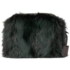 2012 Louis Vuitton Vert Fonce Fox Fur & Lambskin Pochette Chaine Renard