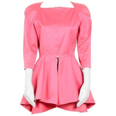 Claude Montana vintage bold fushia / pink peplum jacket, 1980