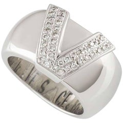 Versace V Diamond White Gold Ring