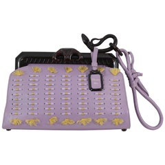 2007 Christian Dior Limited Edition Samourai Clutch in Purple Leather