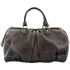 Louis Vuitton Stephen Handbag Monogram Embossed Leather
