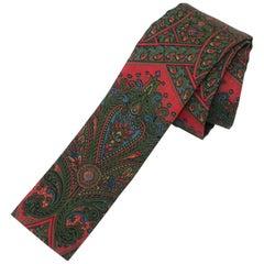 Mod 1960's Paisley Skinny Square Men's Necktie