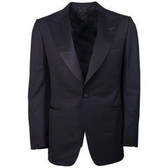 Tom Ford Men's Black Ribbed Lapel Windsor Two Piece Suit