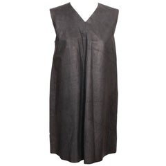Carol Christian Poell Grey Leather Smock Dress