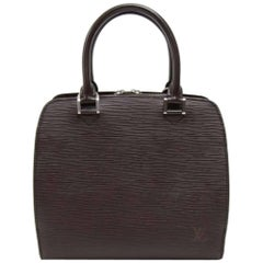 Louis Vuitton Pont Neuf Moka Brown Epi Leather Hand Bag