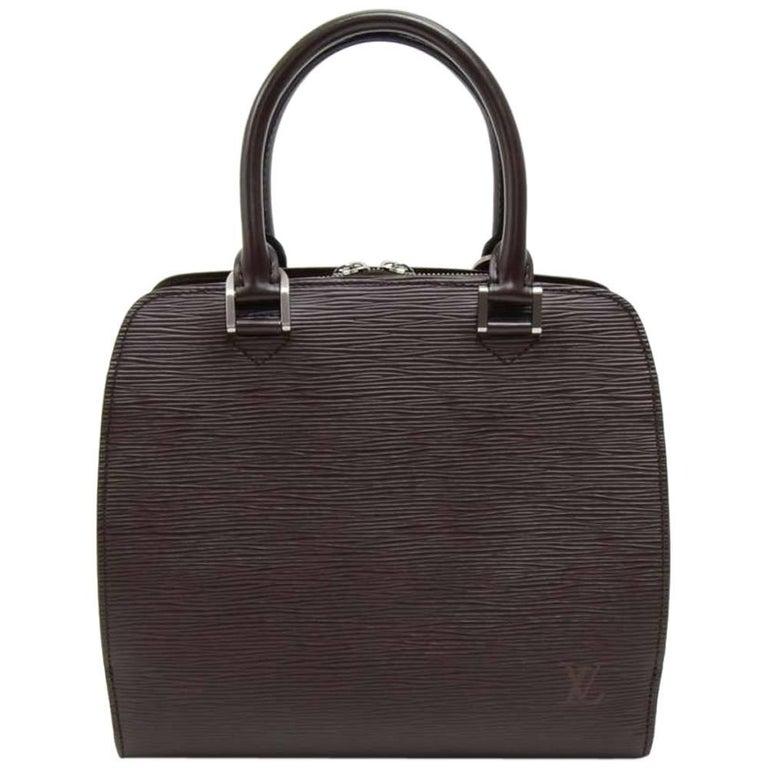 Louis Vuitton Pont Neuf Moka Brown Epi Leather Hand Bag