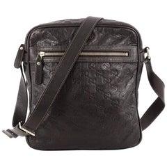 Gucci Front Zip Messenger Guccissima Leather Medium