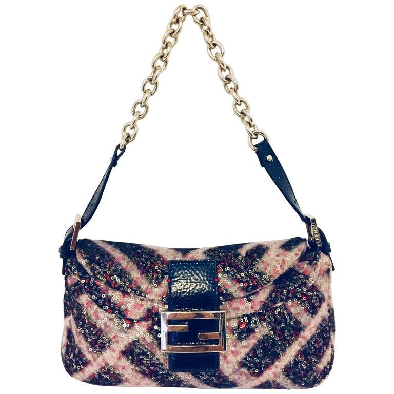 Fabulous Fendi Multicolor Sequin Baguette Bag