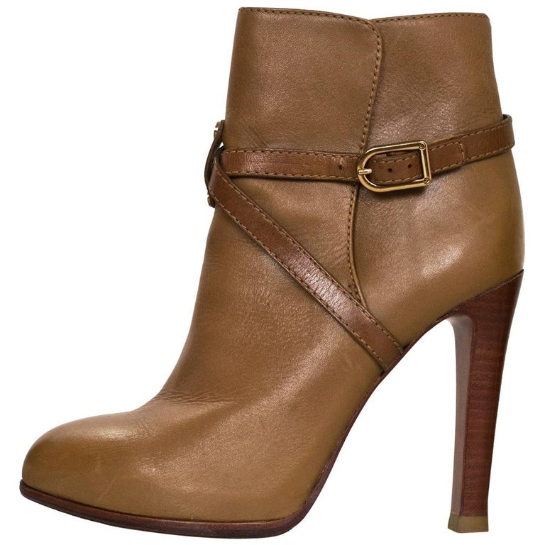 Tory Burch Tan Leather Ankle Boots Sz 7M